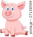 Cute pig cartoon 27138569