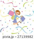 買い物と女性と紙吹雪 27139982