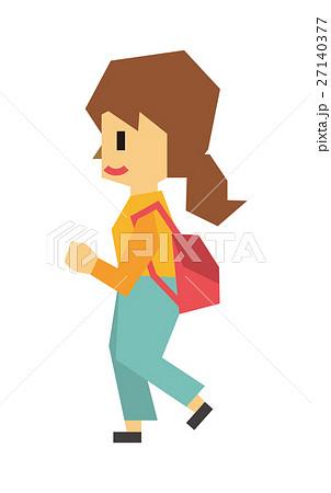 歩く女性【フラット人間・シリーズ】 27140377