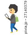 歩く女性【フラット人間・シリーズ】 27140379