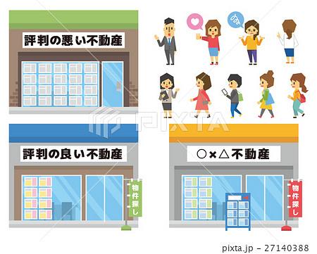 不動産屋さんのセット【フラット人間・シリーズ】 27140388