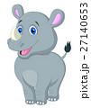 Cute baby rhino cartoon 27140653