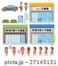 不動産屋のセット【フラット人間・シリーズ】 27143131