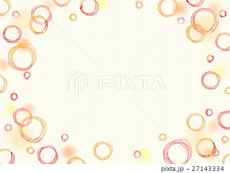 水彩 手描き丸と水玉 水彩紙 27143334