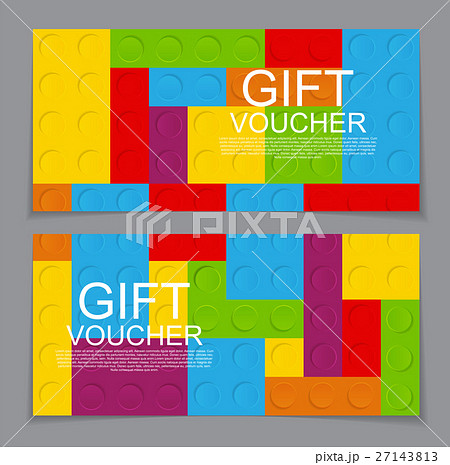 gift voucher template with the designer in theのイラスト素材