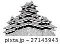 松本城 【手描き】 27143943