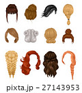 Women Wigs Hairstyle  Realistic Icons Set 27143953