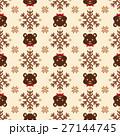 クマ ノルディック柄 模様編みのイラスト 27144745