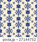 クマ ノルディック柄 模様編みのイラスト 27144752
