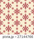 ノルディック柄 雪 模様編みのイラスト 27144766