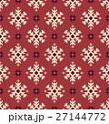 ノルディック柄 雪 模様編みのイラスト 27144772