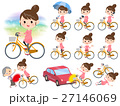 Pregnant woman ride on city bicycle 27146069