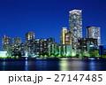夜景 都心 マンション群の写真 27147485