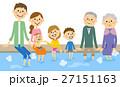 家族 三世代 ファミリーのイラスト 27151163