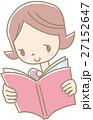 本を読む若い女性(紫) 27152647