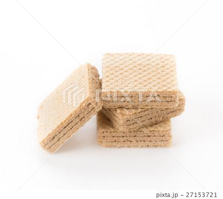 coffee wafer on white backgroundの写真素材 [27153721] - PIXTA