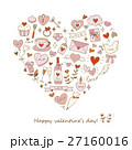 Colorful heart-shaped love elements 27160016