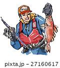 アカムツを釣り上げる男性 27160617