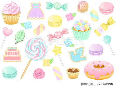 洋菓子セット03のイラスト素材