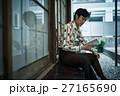 昭和 男性 縁側の写真 27165690