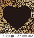 ハート アイコン 背景素材のイラスト 27166162