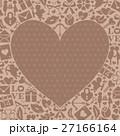 ハート アイコン 背景素材のイラスト 27166164