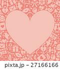 ハート アイコン 背景素材のイラスト 27166166