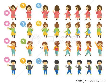 女性のセット【フラット人間・シリーズ】 27167969