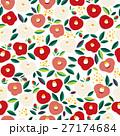 花柄 背景 パターンのイラスト 27174684