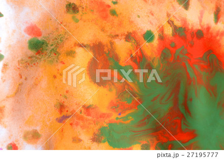 Warm abstract background red, yellow, orange ink  27195777