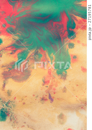 Warm abstract background red, yellow, orange ink  27195781