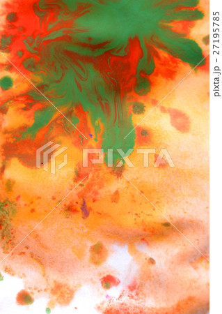 Warm abstract background red, yellow, orange ink  27195785