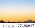 ふなばし三番瀬海浜公園 富士山と夕景 (千葉県船橋市) 27198947