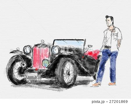 クラシックカー イラストのイラスト素材 27201869 Pixta