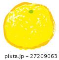 ゆず 柚子 水彩 イラスト 手描き 27209063