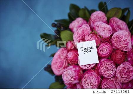 バラのブーケとメッセージ 27213561