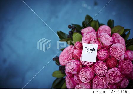 バラのブーケとメッセージ 27213562