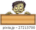 Sign template with zombie behind it 27213700