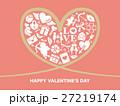 バレンタイン ハートフレームの背景素材 27219174