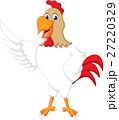 Cute rooster cartoon presenting 27220329
