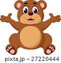 Cartoon teddy bear waving hand 27220444