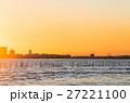ふなばし三番瀬海浜公園 富士山と夕景 (千葉県船橋市) 27221100
