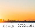 ふなばし三番瀬海浜公園 富士山と夕景 (千葉県船橋市) 27221101