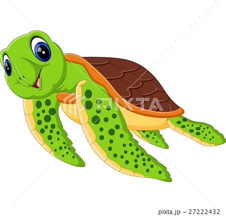 illustration of cute turtle cartoonのイラスト素材 27222432 pixta