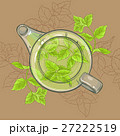 peppermint tea in teapot 27222519