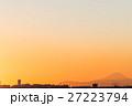 ふなばし三番瀬海浜公園 富士山と夕景 (千葉県船橋市) 27223794