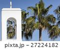 White church and palms, Agia napa, Cyprus 27224182