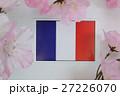 国旗 春 桜 27226070