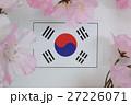 国旗 春 桜 27226071