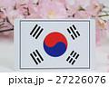 国旗 春 桜 27226076